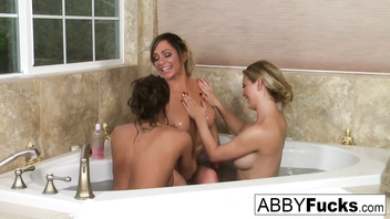 Threeway lesbian fun with Abigail, Cherie, and Destiny