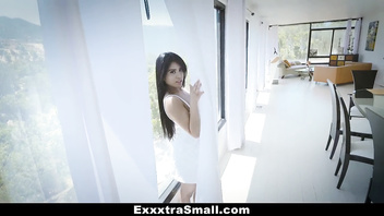 ExxxtraSmall - Tiny Little Asian Gets Drilled By A Huge Cock