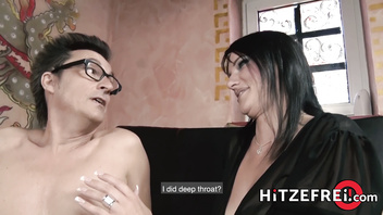 HITZEFREI Anal threesome with two German beauties