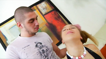 Tanlined Teen Lia gets her Tight Asshole Trained for BBC!