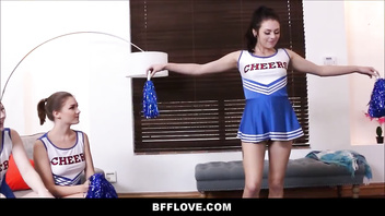 Tiny Teen High School Cheerleaders Fuck Coach