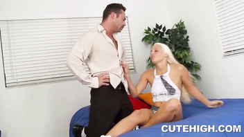 Lustful Macy Cartel Giving Blowjob and Rammed