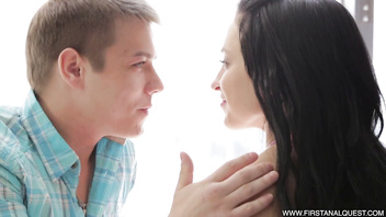 FirstAnalQuest.com - GIRLFRIEND ANAL IS EROTIC & AROUSING WITH A YOUNG COUPLE