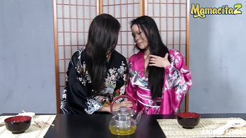 MAMACITAZ - Hot Lesbian Sex With Two Amazing Asian Babes (Lady Mae & Miyuki Son)