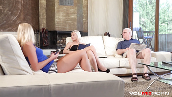 YOUMIXPORN Interactive - Mobster fucks old man's slutty wife and daughter