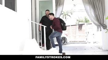 FamilyStrokes - Big Dick Stud Fucks His StepUncle's Sexy Cougar Wife