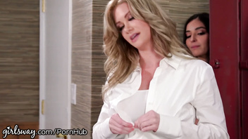 Girlsway Sorority Rush Emily Willis Caught Stealing from MILF Professor!