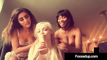 Lesbo 3Some with Ebony Jenna Foxx, Naomi Woods & Alex Grey!
