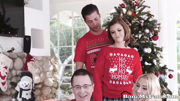 Sexy Sister Riley Mae Fucks Her Step-Brother At Christmas