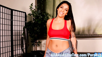 Hot Latina Mia Martinez Gets Ass Eaten on Top of Desk!
