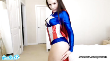 CamSoda - Katie Banks BJ and Masturbation in Superhero Cosplay