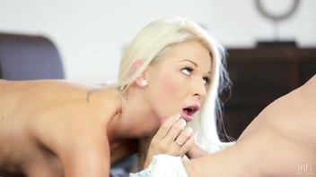 Nubile Films - Perky ass showered with jizz