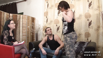Casting couch Amateur french couple ass fucking the chubby milf with cum 2 mouth