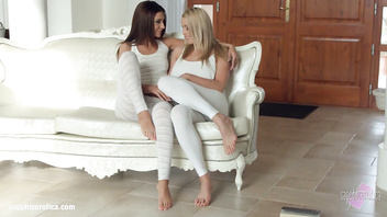 Christen Courtney and Alexis Brill fingering and licking in Book of 69 from Sapp