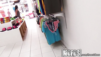 Mofos - Hot asian teen gets pounded in the changing room