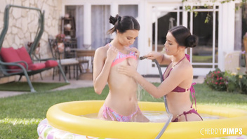 Lesbians Alina and Eliza Get Each Other Wet and Orgasm Even Harder