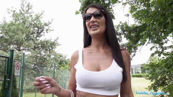Public Agent Princess Jas get her big British Asian boobs out
