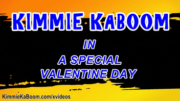 BBW Kimmie KaBoom Loves To Play With Her Twat on Valentine's Day! Jiggling Ginormous Tits!!