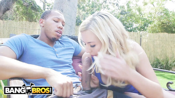 BANGBROS - A Big Black Dick For Tiny Blonde Teen Slut Summer Day