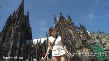 Public ass flashing by Jeny Smith in Cologne