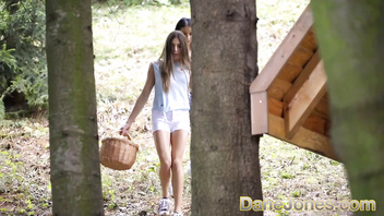 Dane Jones Euro babes Talia Mint and Nelly Kent double team hot woodsman