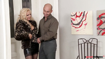Swinger couple pays blonde escort for Anal Threesome
