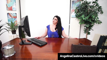 BBW Sex Therapist Angelina Castro Face Fucks A Cock!