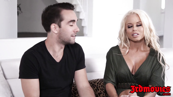 Cougar Nikki Delano makes her husband watch her fuck