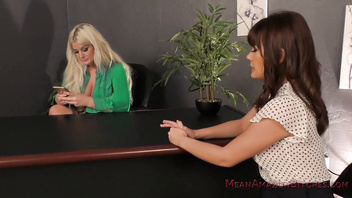Bossy Bitch Julie Cash Dominates Her CoWorker