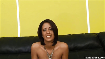 Lyla Storm used as fuck meat pukes on 2 cocks