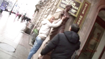 Dirty Blonde Anny picked up and Intensely Ass Fucked in Prague