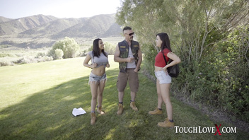 TOUGHLOVEX Karl fucks two ladies in the great outdoors