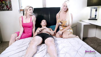 Threesome with my Busty Step Mom and Horny Aunt - Cory Chase London River