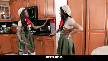 BFFS - Kinky Girl Scouts Have a Bisexual Threesome With Big Dick Stud