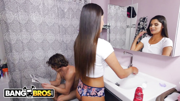 BANGBROS - My Roommate Walks In On Me In The Bathroom & I Just Go For It