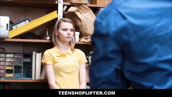 Tiny Blonde Teen Catarina Petrov Caught Stealing