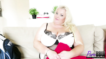 BTS interview with the legendary busty blonde British BBW Kirstyn Halborg