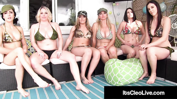 Hot Webcam Babe Its Cleo & Vicky Vette Eat 6 Girl's Pussies!