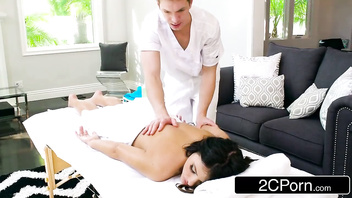 Sneaky Wife Adriana Chechik Letting Masseuse Fuck Her In The Ass