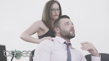 BABES - Hot couple share secretary in office threesome