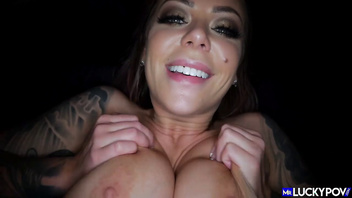 Inked bubble butt blonde gets her tits and pussy fucked