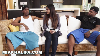 Mia khalifa - getting spit roasted by charlie mac & rico strong