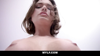 Mylf - brunette milf bounces on your cock
