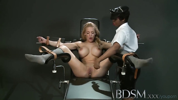 Bdsm xxx slave girl with massive breasts gets orgasms by angry mistress
