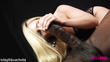 Aj applegate sucks monster black cock of mandingo