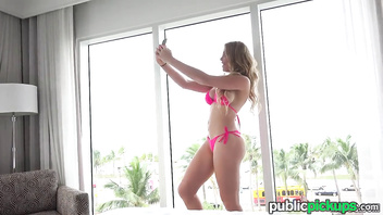 Mofos - bikini blonde flashes for cash