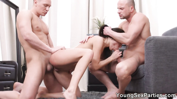 Young sex parties - dp for gorgeous nubile