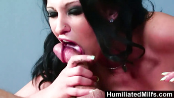 Humiliatedmilfs - mature big tits in a jail cell gets slammed by hard cock.