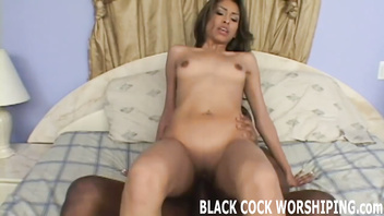 Watch him plunge his black cock in my tight pussy