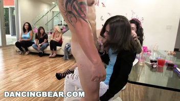 Dancing bear - sean lawless gets the best blowjob of his life @ stevie's bachelorette party